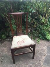 Antique georgian oak dining chair