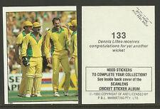 AUSTRALIA 1983 SCANLENS CRICKET STICKERS SERIES 2 - DENNIS LILLEE (AUST) #133