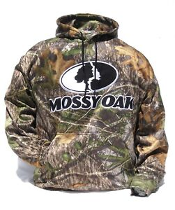 Cabela's Men's Mossy Oak OBSESSION Quiet Performance Logo Fleece Hunting Hoodie