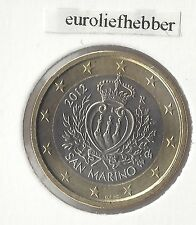 San Marino   OFFICIAL UNCIRCULATED   1 EURO   COIN    2012
