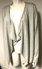 BETTY BARCLAY - SILVER GREY KNITTED LUREX WATERFALL CARDIGAN JACKET- UK 16 BNWT