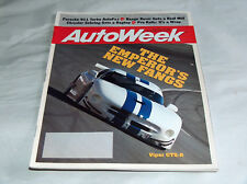 Autoweek 1995 Car Truck Magazine Dodge Viper GTS-R, Porsche 911 Turbo Autofile