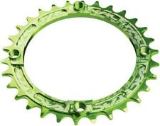 RaceFace Narrow Wide Chainring: 104mm BCD 34t Green