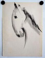 Tête de cheval, étude, milieu 20. JH