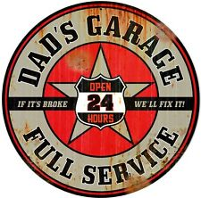 dad's garage Rond signal métallique ( ÉRODÉ Version) 360mm diamètre ( PST )