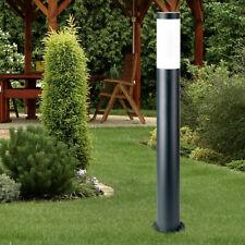 Design Steh Außen Lampe anthrazit Garten Grundstück Edelstahl Stand Beleuchtung