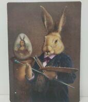 Easter Postcard Antique reproduction Easter Greetings Mona Lisa