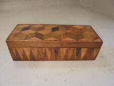 Antico intarsiati TUNBRIDGE Ware BOX, barilatura Blocco ref 666