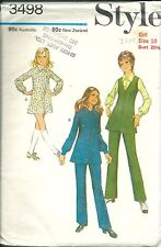 Style Sewing Pattern 3498, Vintage Girl's Dress, Tunic, Trousers, Size 10, Uncut