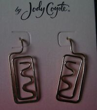 Jody Coyote Earrings JC0190 new hypoallergenic gold twist dangle Made USA