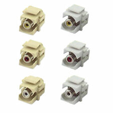 1 RCA Audio/Video Flush Mount Recessed Keystone Wall Plate Connector PICK Color
