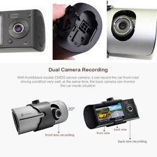 """2.7"""" LCD DVR Coche Cámara doble ciclo de grabación de vídeo Cámara en Tablero Sensor G registrador GPS"""