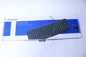 Verbatim 99202 Slimline Corded USB Keyboard and Mouse Set