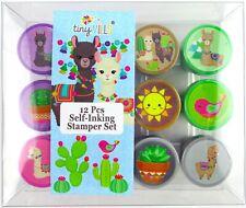 Tinymills 12 Pcs Llamas Stamp Kit for Kids