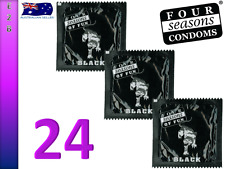FOUR SEASONS BLACK Lubricated 24 Condoms Bulk Pack