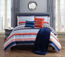 10 Piece Roony Orange Reversible Bed in a Bag w/Throw Blanket Set Full/Queen