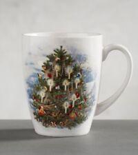 New Pottery Barn Nostalgic Christmas Tree Set Of 4 Mugs Sold Out