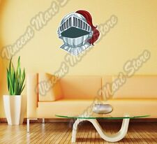 "Knight Helmet Medieval Armoury Gift Wall Sticker Room Interior Decor 22""X22"""