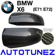 New Carbon Fiber Side Mirror Cover BMW X6 E71 E72 SUV Series Car Vacuum Bagging