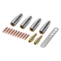 17Pcs/Set 15Ak Mig/Mag Welding Nozzle Contact Tips 0.8X25Mm M6 Gas Connecto G3T9