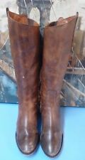 womens Arturo Chiang brown leather riding boots size 8.5 M