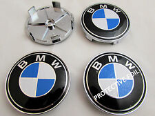 BMW E46 E60 E81 E87 E90 E91 ALLOY WHEEL CENTER CAPS 68mm x4 CENTRE HUB INSERTS