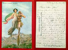 AK ITALIEN um 1917 Glücksgöttin Fortuna      ( 9835