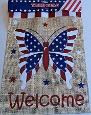 "Patriotic Yard Flag 12"" x 18"" Patriotic Butterfly"