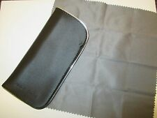 NEW - (2) GIORGIO ARMANI OPTICAL CASES  W/ CLEANING CLOTH  2 FOR $16.50