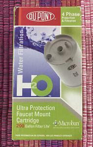 Genuine DuPont Water Filter 4 Phase Faucet Mount Cartridge 200 Gallon WFFMC300
