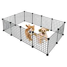 Pet Fence Metal Pet Playpen Dog Kennel Pets Fence Exercise Cage 12 Panels Us