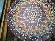 """48"""" Marble Mosaic Round Table Top"""