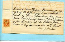 1868 RECEIPT OF DIVIDENDS OF COTTON PRESS EST SAM GOURDIN BY ANNA CHARLESTON SC