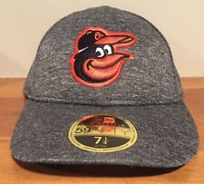 New Era 59Fifty BALTIMORE ORIOLES Low Profile Fitted Hat Cap 7 1/4