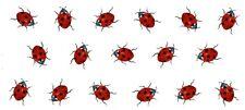"1 Ladybug Ladybird Wrap  7-1/2"" X 3-1/4"" Waterslide Ceramic Decal Ox"