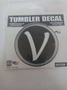 Tumbler Decal Letter V