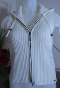 River Island - Beautiful Cream Knitted Hooded Gilert - size 12 - mint condition