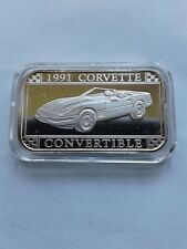 1991 Corvette Coupe Silver Art Bar by Sillvertowne  Gem  Rare