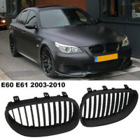 1 Pair Of Front Kidney Black Grille Grill For BW E60 E61 M5 5 Series 2003-2010