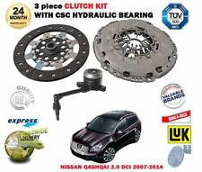 FOR NISSAN QASHQAI 2.0 DCI 150BHP 2007-2014 CLUTCH KIT WITH CSC SLAVE CYLINDER