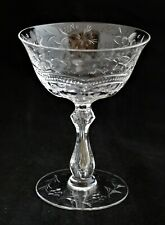 ANTIQUE WEBB CUT GLASS ROCK SHARPE CRYSTAL SHERBET GLASS
