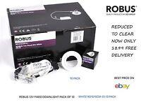 ROBUS 12V FIXED DOWNLIGHT PACK OF 10 WHITE RD101SCMP-01 BARGAIN PRICE