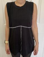 Lululemon Size 10 LA All Yours Muscle Tank Black BLK Pima Cotton Speed Yoga LOVE