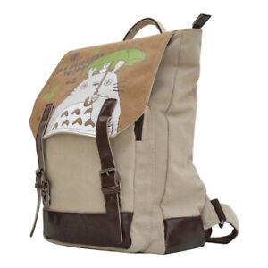 Mein Nachbar Totoro Rucksack Student Schultasche Canvas Reiseaufbewahrungstasche