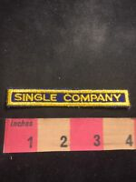Vintage SINGLE COMPANY Tab Patch C91M