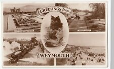 Dorset; Weymouth Multiview RP PPC, 1960 PMK, Shows Gardens & Railway