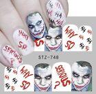 Joker Nail Art Nail water decals Joker Nail Wraps Joker Nail Decals