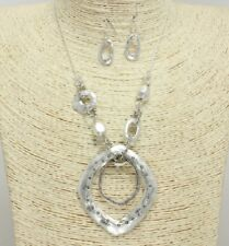 Antique Silver FASHION Necklace Set