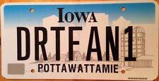 Iowa vanity DIRT FAN license plate Trail Running Track Racing Sports Car Biking