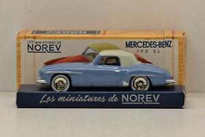 MERCEDES 190 SL GRIS BLEU / BLEU CLAIR NOREV CLASSICS 1/43 NEUVE EN BOITE